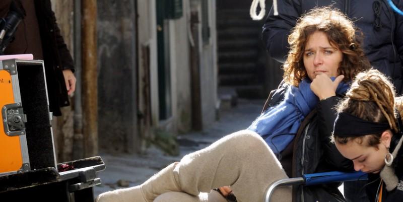 Valeria Golino sul set del suo corto Armandino e il Madre