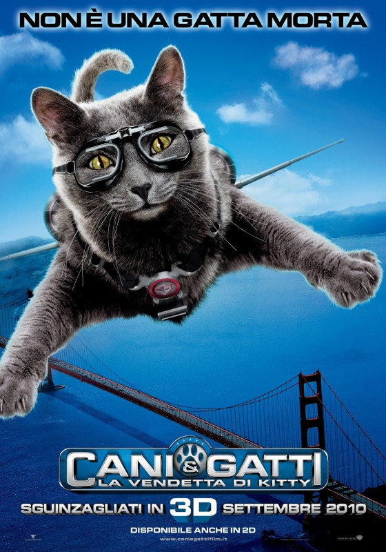 Character Poster italiano (Gatto) del film Cats & Dogs: The Revenge of Kitty Galore
