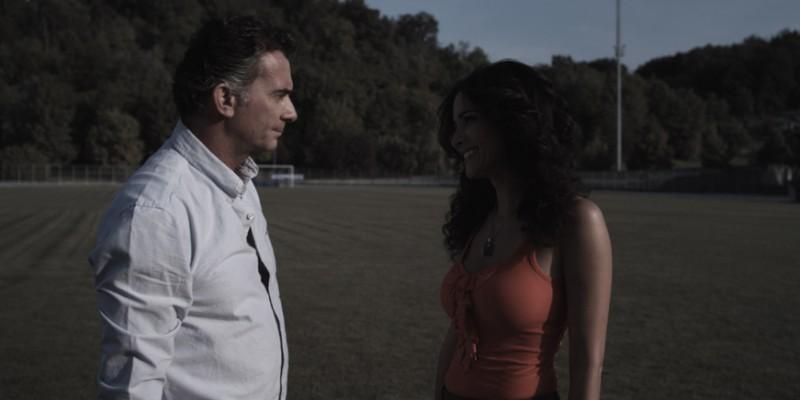 Fabio Bonini e Randi Ingerman in una scena del film Backward
