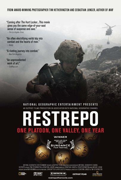 La locandina di Restrepo