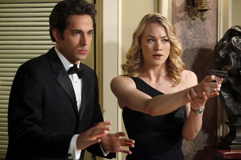 Chuck (Zachary Levi) e Sarah (Yvonne Strahovski) in una scena dell'episodio Chuck Versus the Role Models