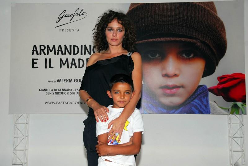 La regista Valeria Golino e Denis Nikolic alla presentazione del film Armandino e il Madre