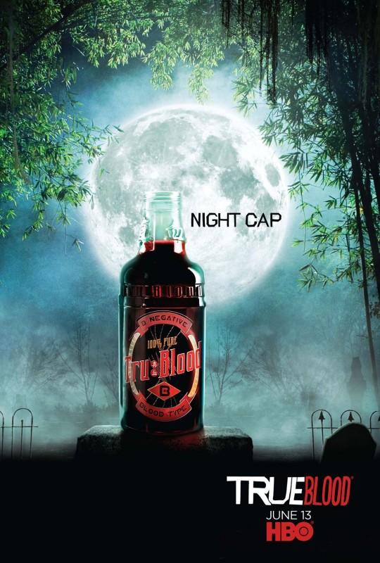 Teaser Poster 'Night Cap' della Stagione 3 di True Blood