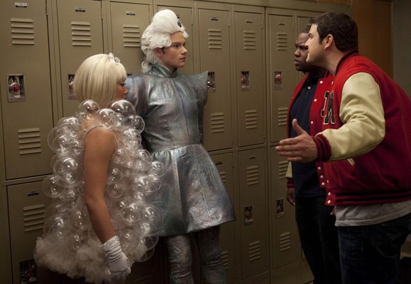Glee: Jenna Ushkowitz e Chris Colfer nell'episodio Theatricality