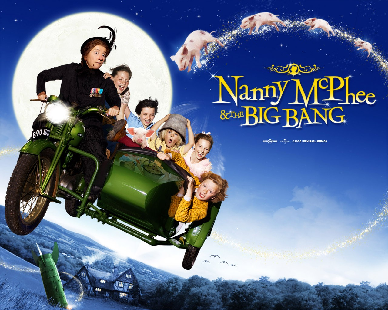 Wallpaper di Nanny McPhee and the Big Bang con tutti i protagonisti