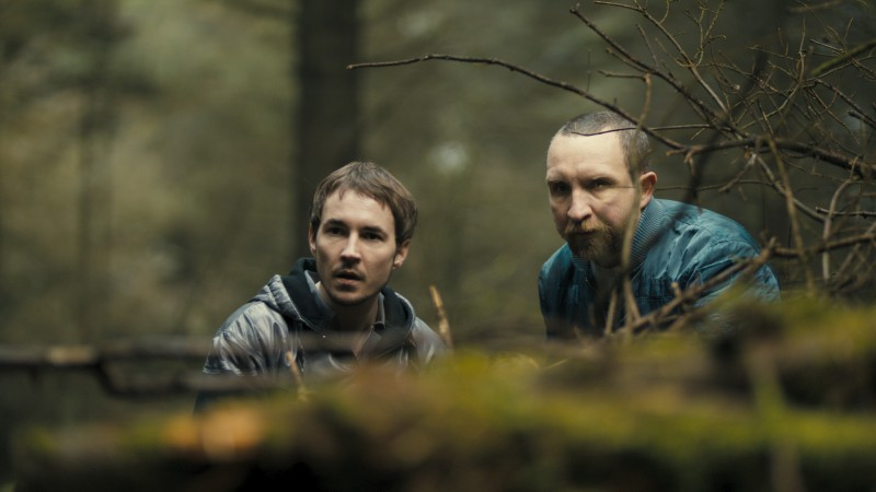 Eddie Marsan e Martin Compston in una scena del film The Disappearance of Alice Creed
