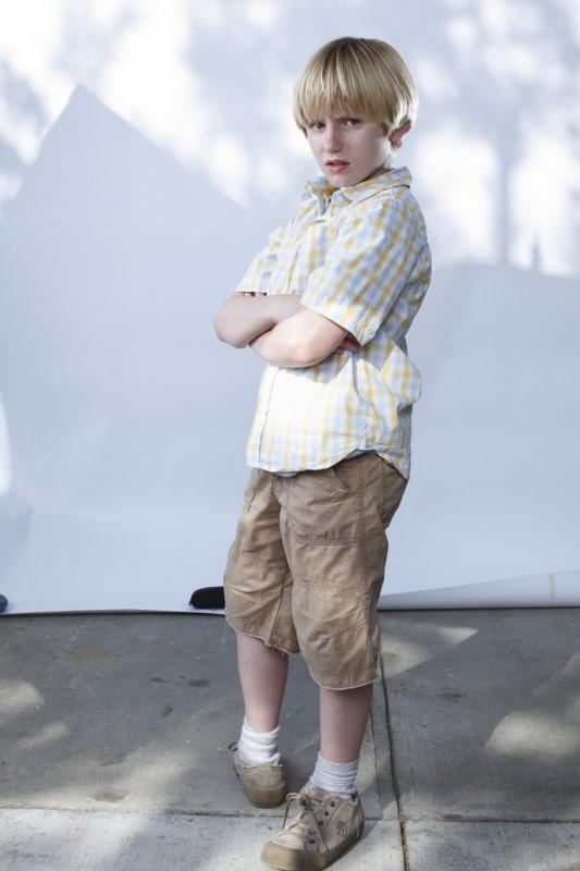 Il piccolo Nathan Gamble in un'immagine promozionale del film The Hole in 3D