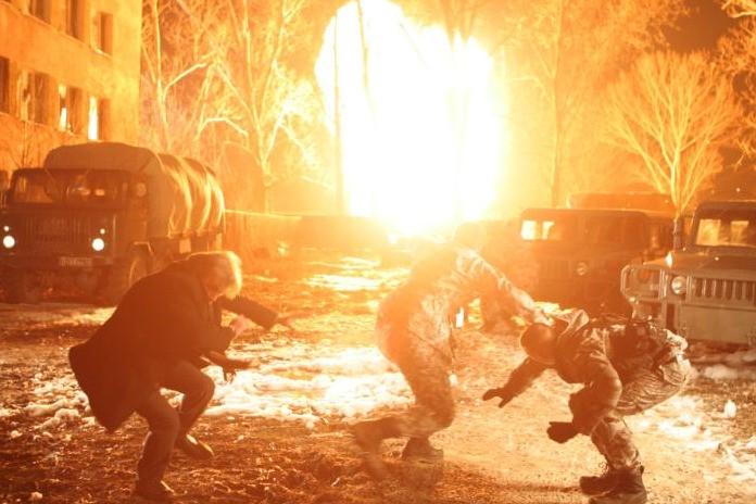 La scena dell'esplosione nel film Universal Soldier: Regeneration