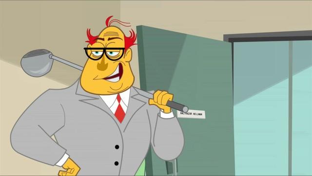 Uno dei personaggi della serie animata Neighbors from Hell