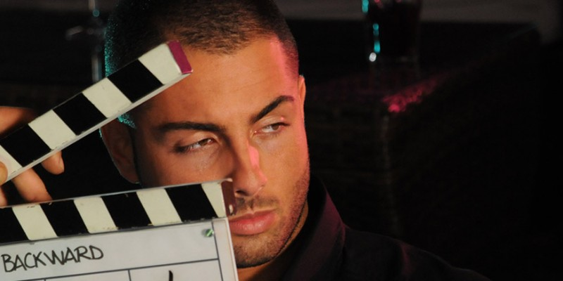 Loris Mazza sul set del film Backward