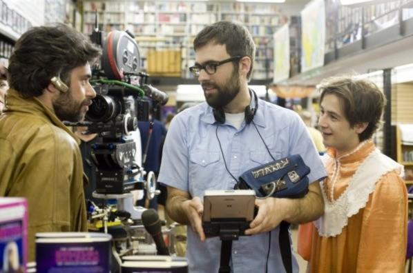 Michael Angarano e Jemaine Clement con il regista Jared Hess sul set del film Gentlemen Broncos