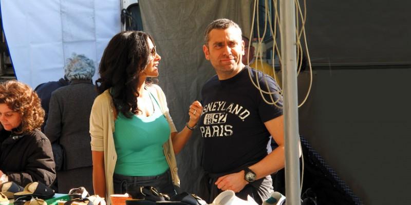 Randi Ingerman con il regista Max Leonida sul set del film Backward