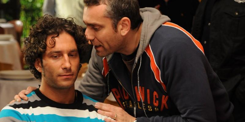 Rosario Rannisi con il regista Max Leonida sul set del film Backward