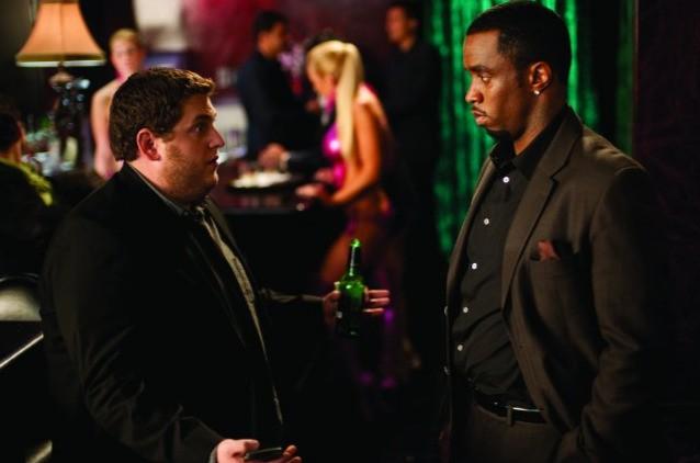 Jonah Hill e Sean Combs in una scena della commedia Get Him to the Greek