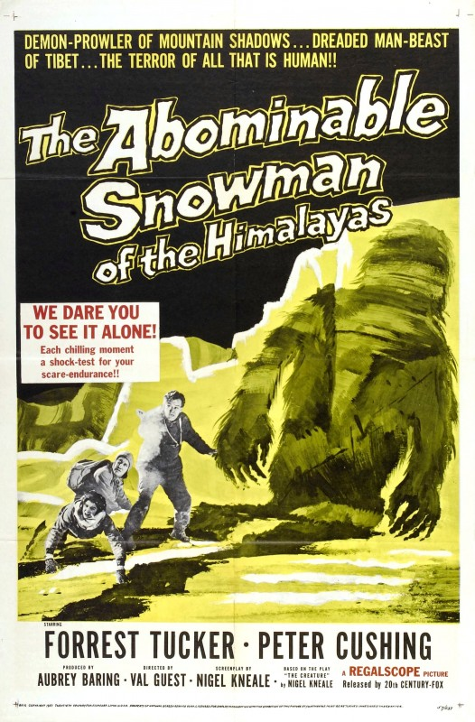 Locandina del film Il mostruoso uomo delle nevi ( 1957 )