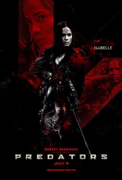 Poster di Predators dedicato a Isabelle