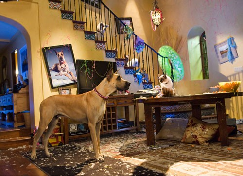 Sansone e il 'fratellastro' Carlos in una scena del film Sansone