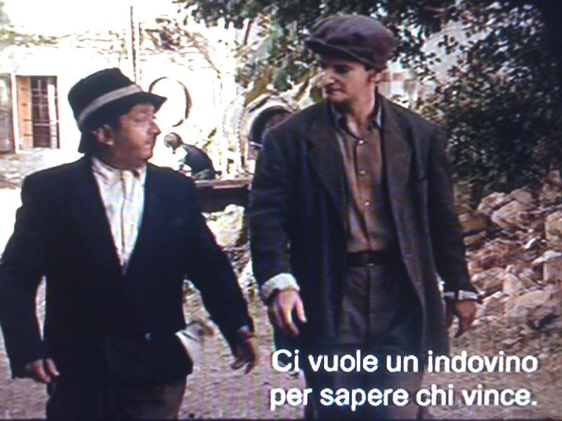 Orfeo Orlando e Diego Pagotto, in una scena de L'uomo che verrà, David di Donatello 2010