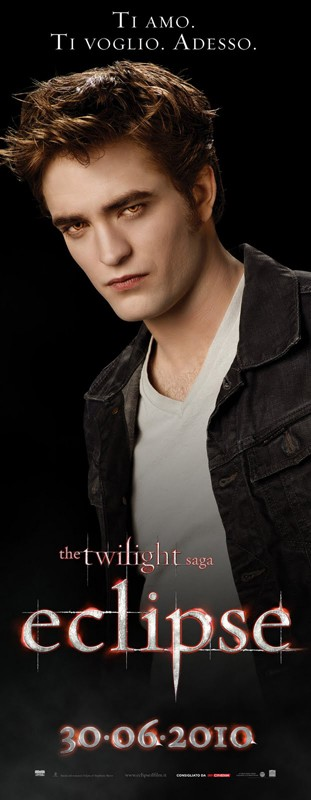 Un character poster italiano di Robert Pattinson per il film The Twilight Saga: Eclipse