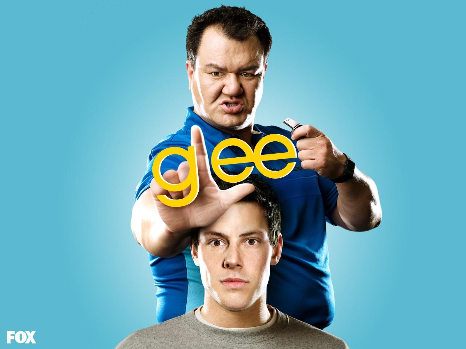 Un wallpaper con Patrick Gallagher e Cory Monteith per la stagione 1 di Glee