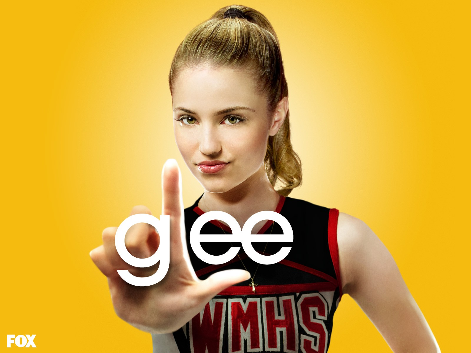 Un wallpaper di Dianna Agron per la prima stagione di Glee