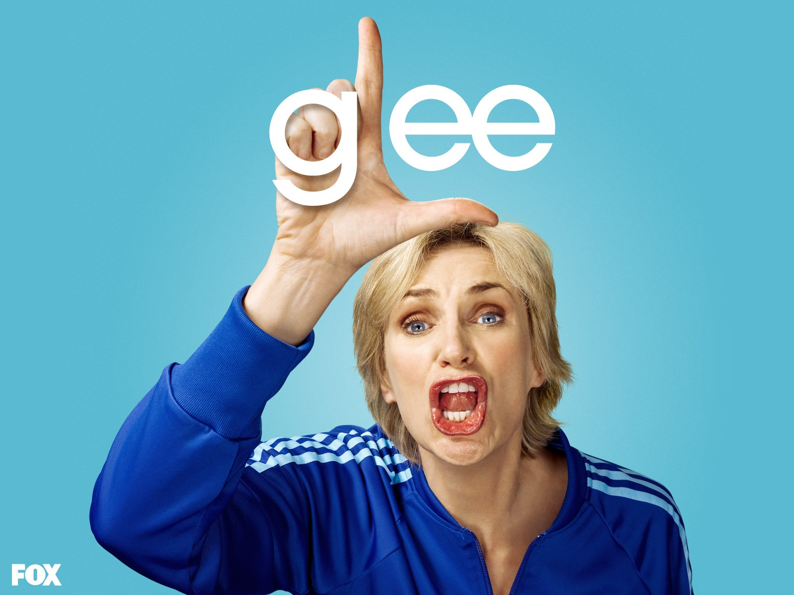 Un wallpaper di Jane Lynch per la stagione 1 di Glee