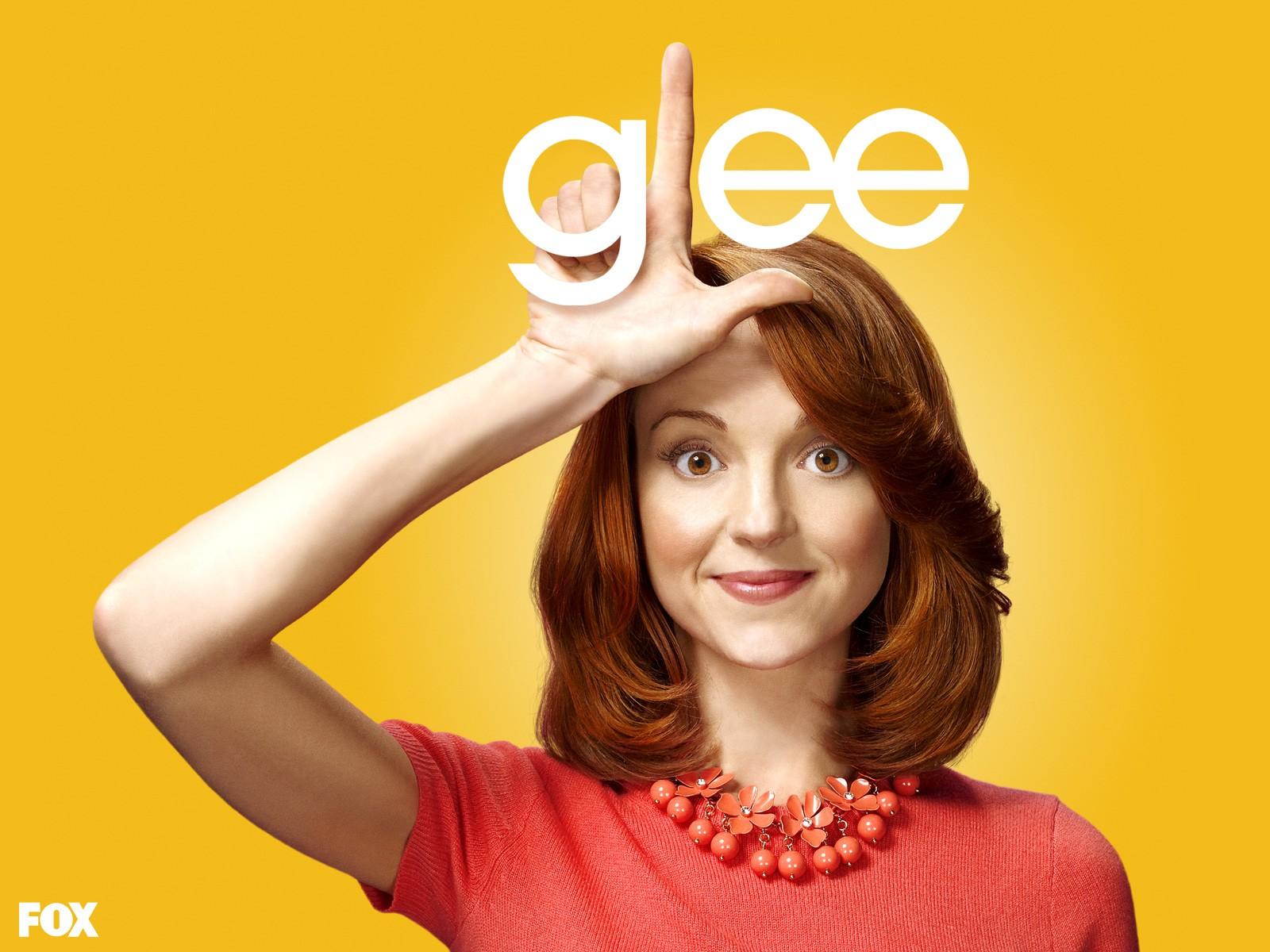 Un wallpaper di Jayma Mays per la prima stagione di Glee
