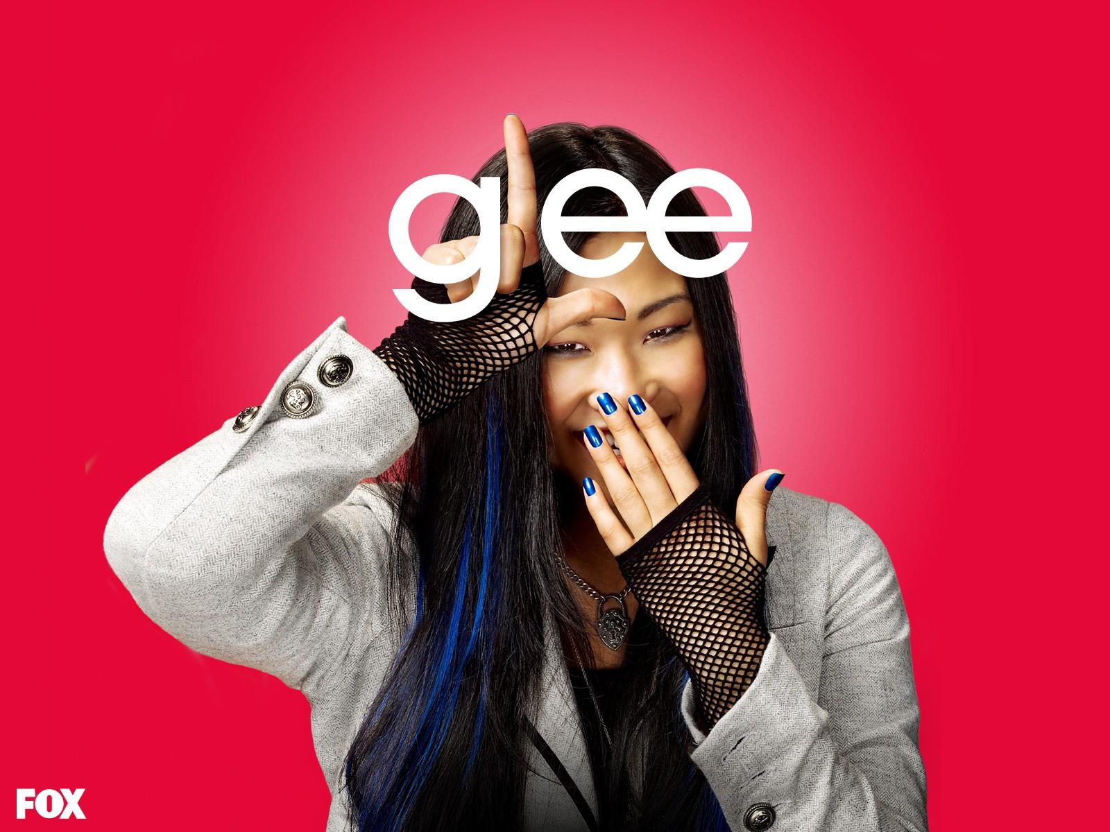 Un wallpaper di Jenna Ushkowitz per la prima stagione di Glee