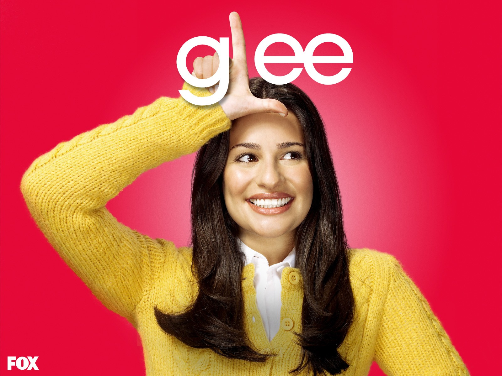 Un wallpaper di Lea Michele per la stagione 1 di Glee