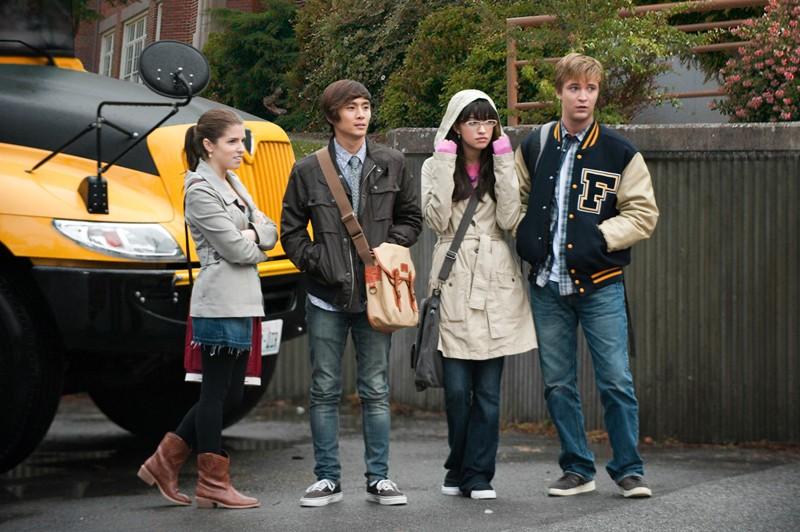 Una sequenza del film The Twilight Saga: Eclipse con gli amici di Bella