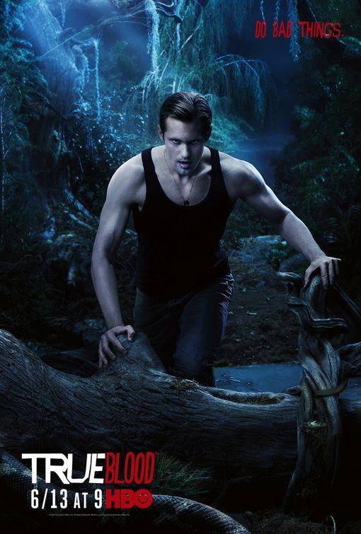 Character Poster della stagione 3 di True Blood dedicato al personaggio di Eric Northman
