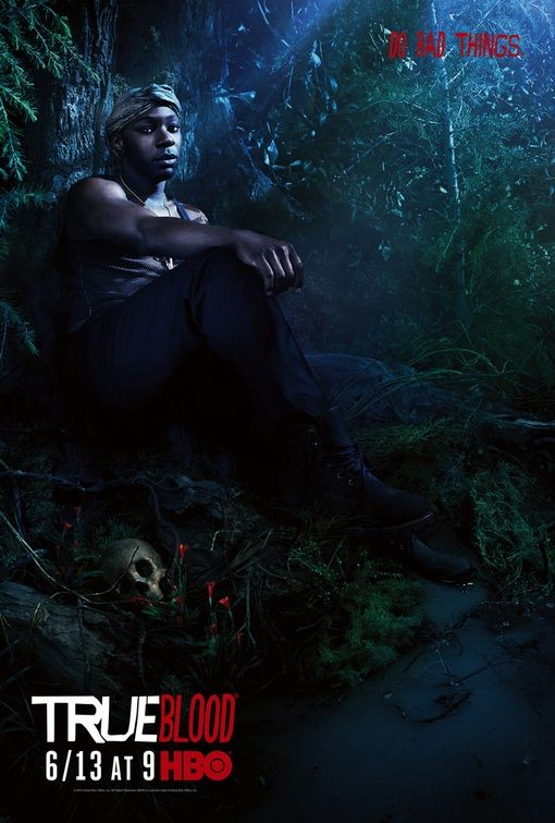 Character Poster della stagione 3 di True Blood dedicato al personaggio di Lafayette Reynolds