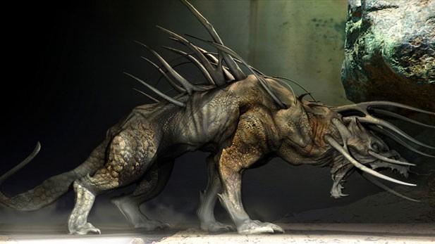 L'immagine di uno dei predatori alieni tratta dal film Predators