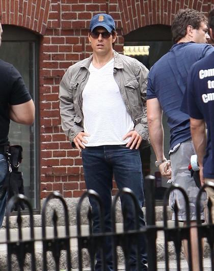 Tom Cruise in un'immagine delle riprese del film Innocenti bugie