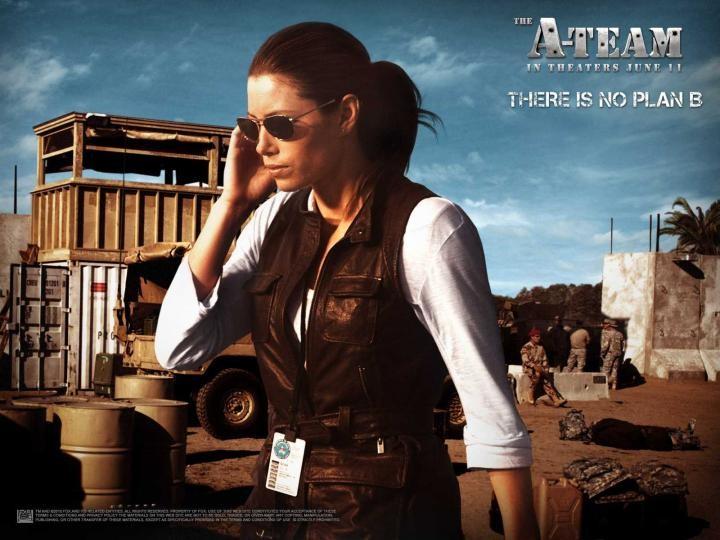Wallpaper del film The A-Team con Jessica Biel (Sosa)