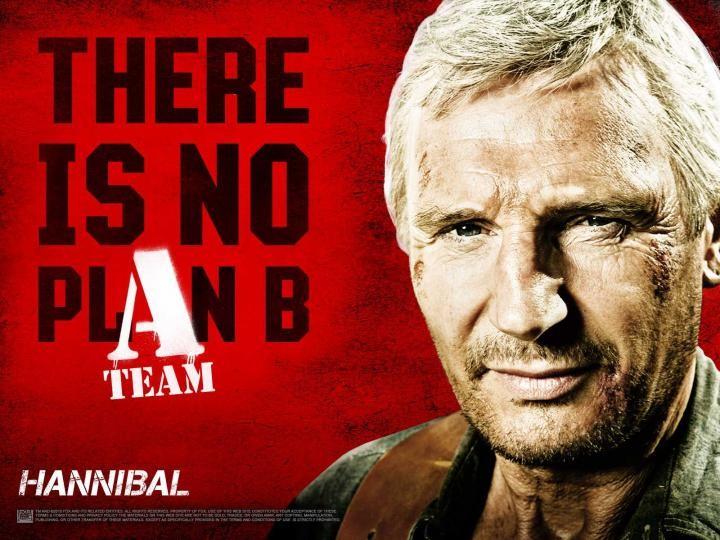 Wallpaper del film The A-Team con Liam Neeson nei panni del Colonnello Hannibal