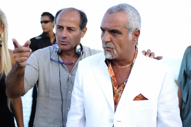 Giorgio Panariello e il regista Ugo Fabrizio Giordani sul set di Sharm El Sheikh - Un'estate indimenticabile