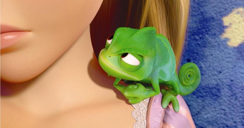 Il piccolo Pascal nel film d'animazione Rapunzel - L'intreccio della torre