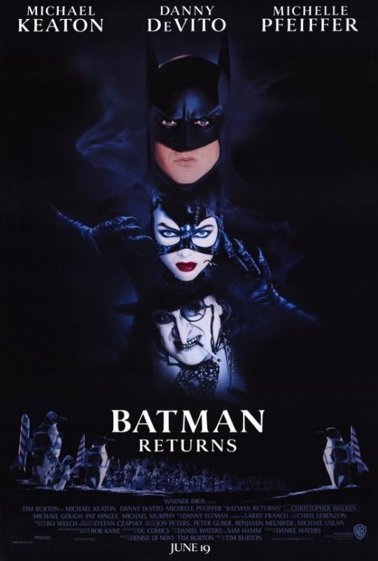 Locandina del film Batman - il ritorno (1992) di Tim Burton