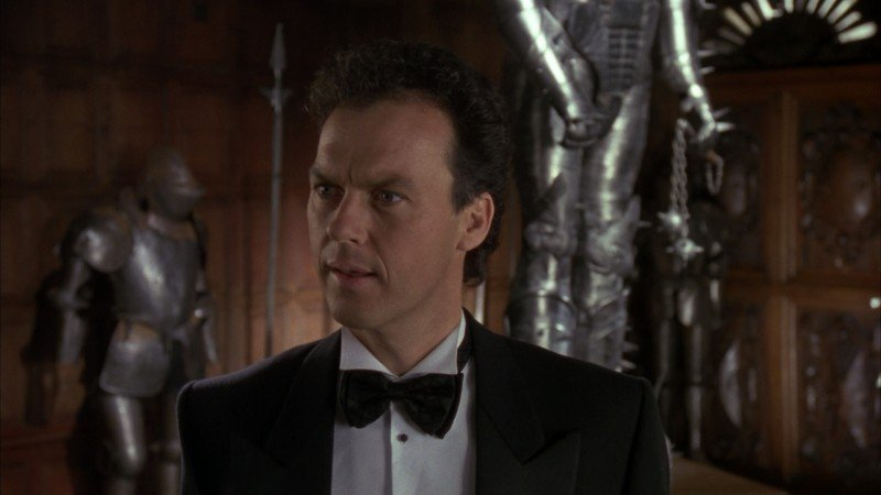 Michael Keaton in una scena del film Batman (1989)