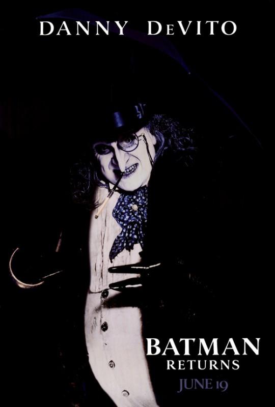 Poster promozionale del film Batman - il ritorno con Danny DeVito