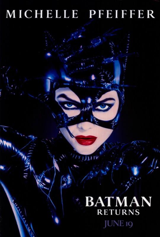 Poster promozionale del film Batman - il ritorno con Michelle Pfeiffer