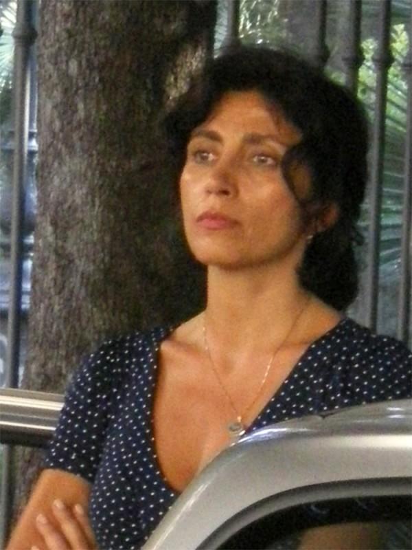Antonella Stefanucci sul set di un cortometraggio