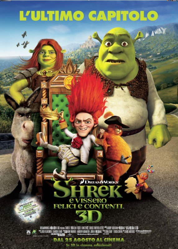 Il poster italiano di Shrek Forever After