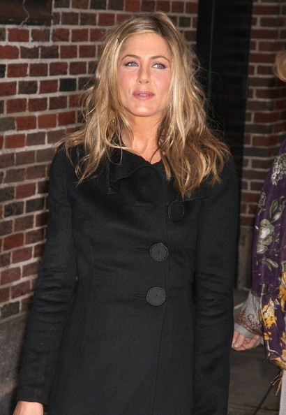 Jennifer Aniston prima del Late Show di Letterman