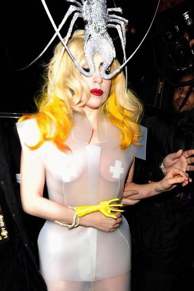 Lady GaGa a Londra con un look estremo