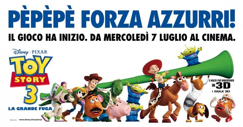 Anche i personaggi di Toy Story 3 tifano per gli Azzurri ai Mondiali 2010