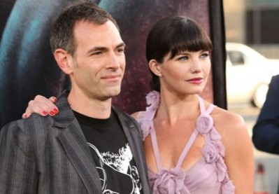 Delphine Chanéac con il regista Vincenzo Natali alla premiere di Los Angeles dello sci-fi Splice