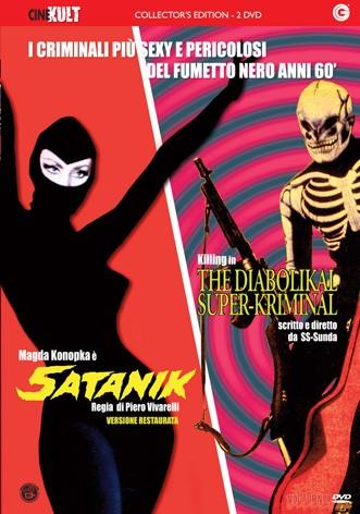 La copertina di Satanik + The Diabolikal Super-Kriminal (dvd)