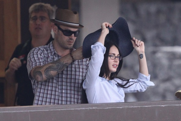 Megan Fox e Brian Austin Green all'aeroporto